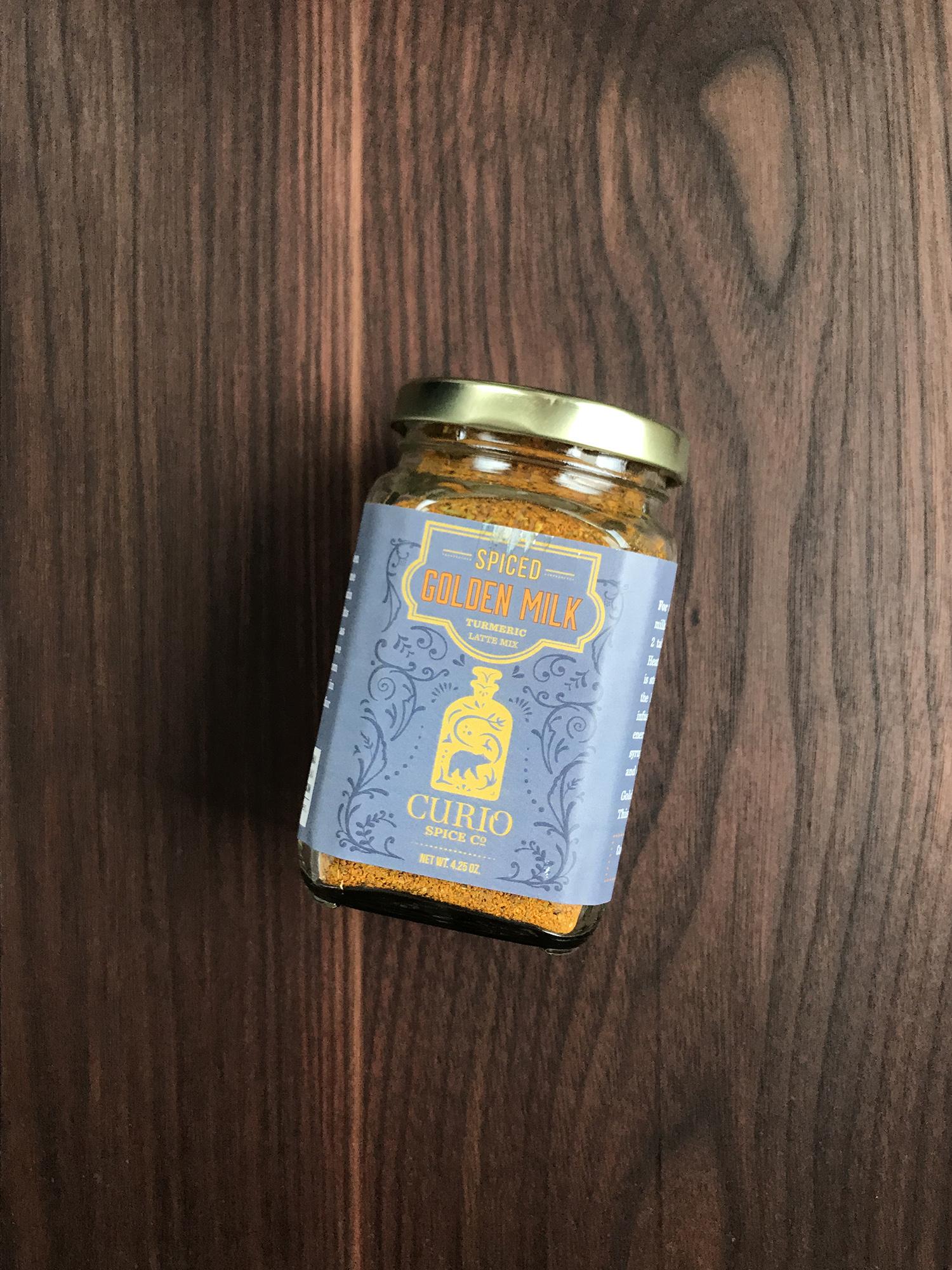Curio Spice Co. Golden Milk, 4.5 oz. Jar-1
