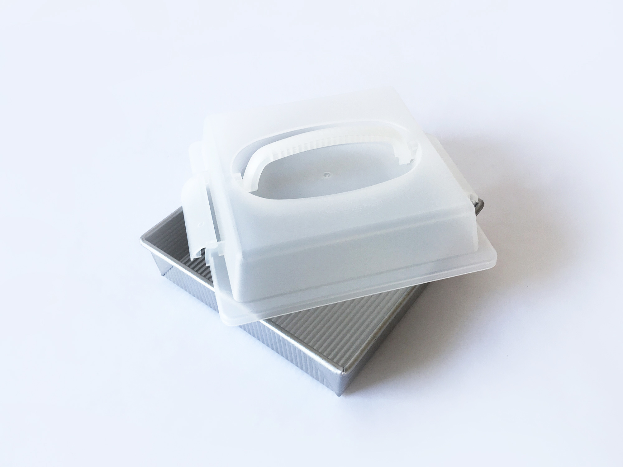 """USA Pans 9"""" Square Pan with Lid-2"""
