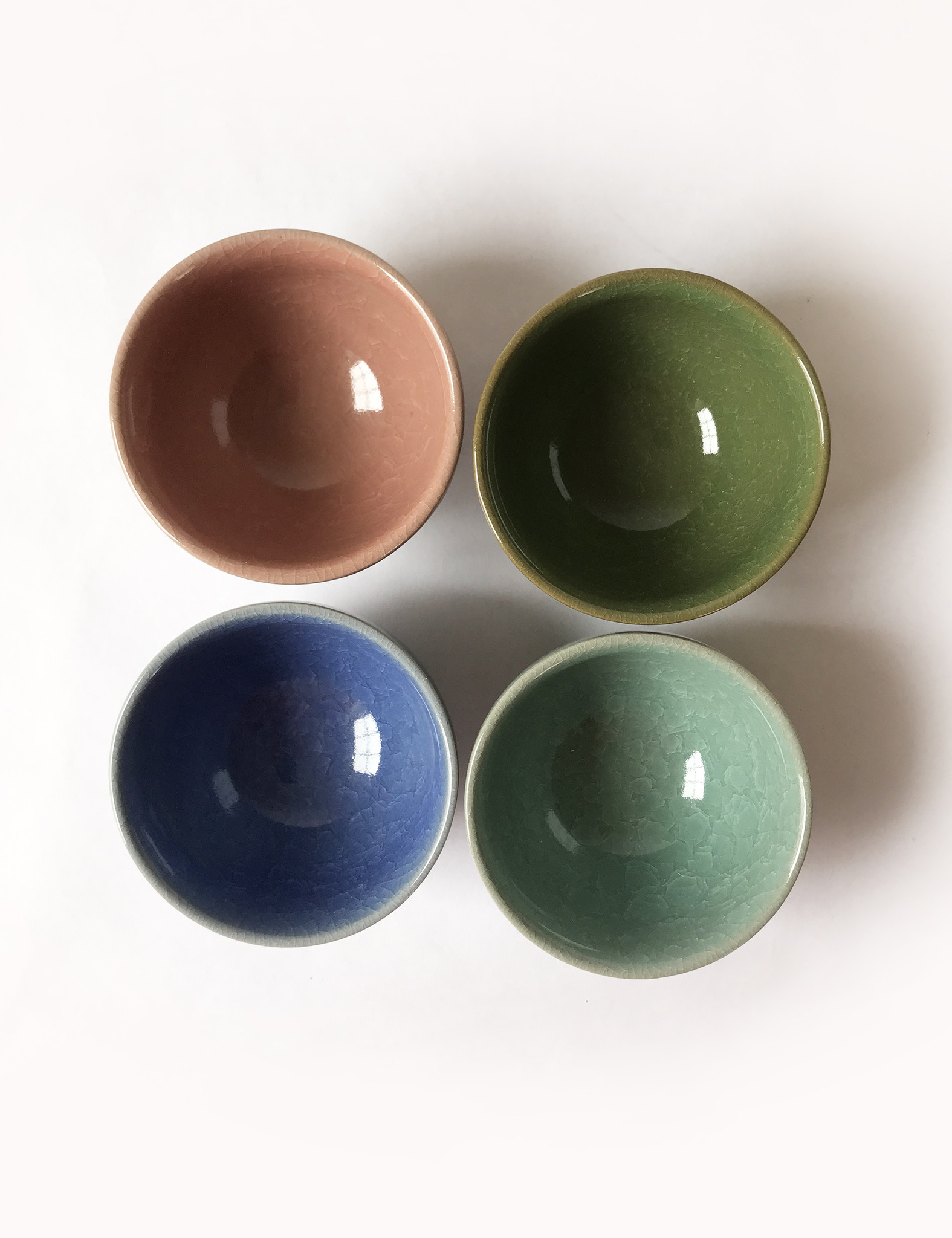 Miya Crackle Tea Cup in Pastels, Set of 4-3