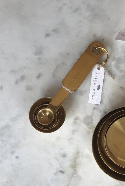 Kriya Veda Gold Measuring Spoons, Set of 4