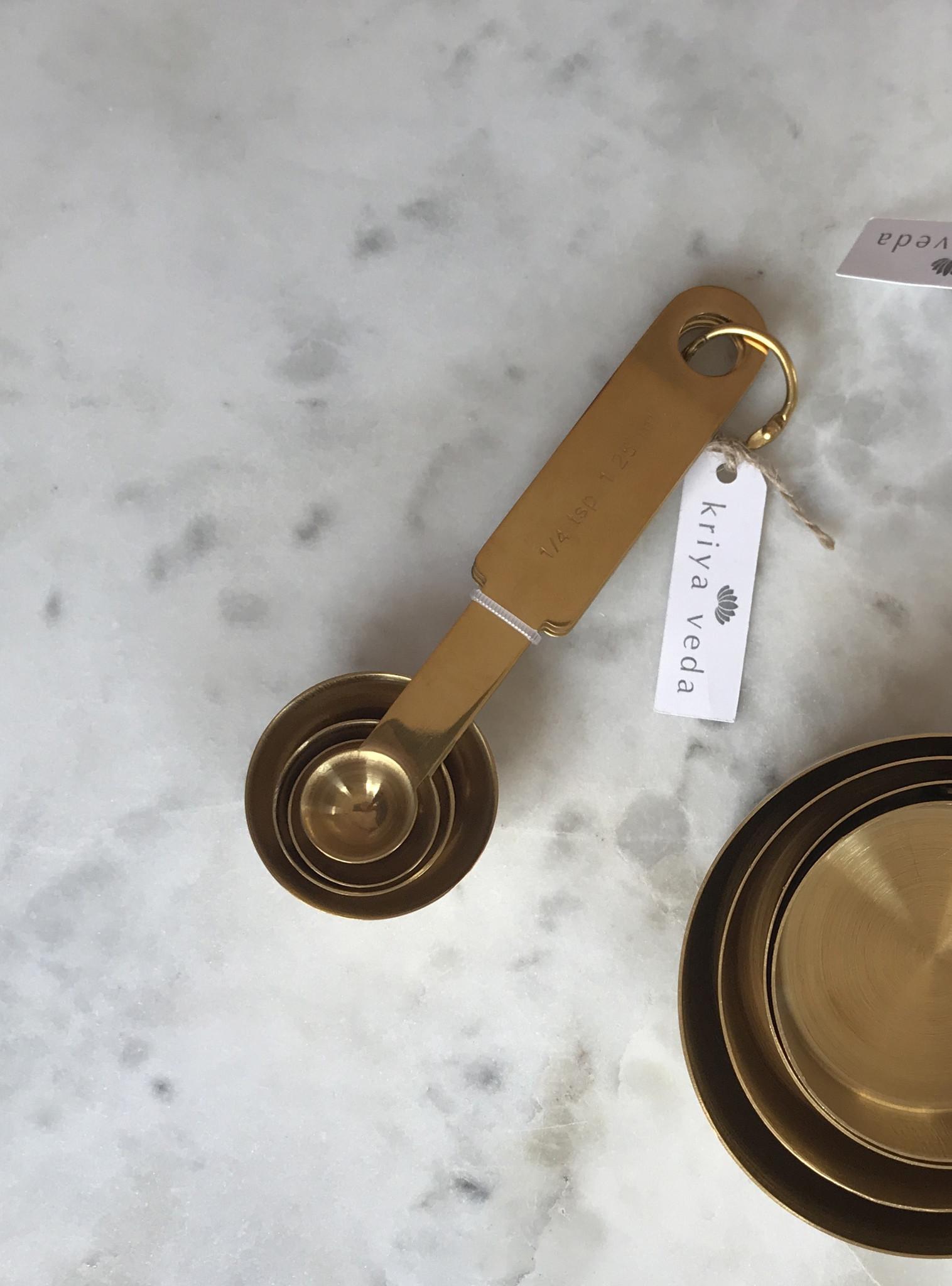 Kriya Veda Gold Measuring Spoons, Set of 4-1