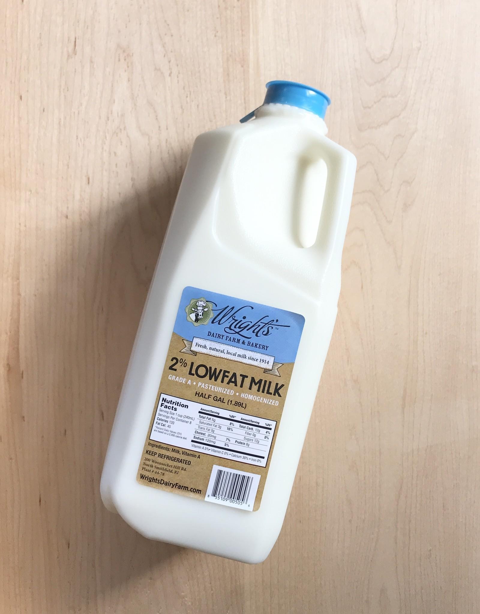 Wright's Dairy Farm Wright's Dairy Milk Half Gallon