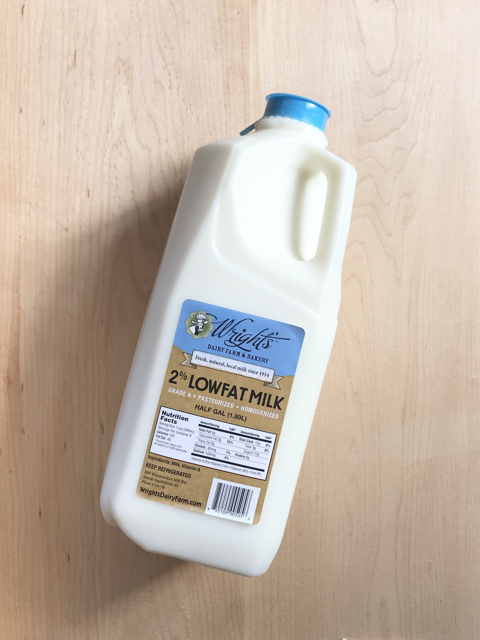 Wright's Dairy Milk 1/2  Gallon-2