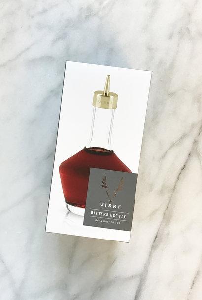 Viski Bitters Bottle with Gold Dasher Top