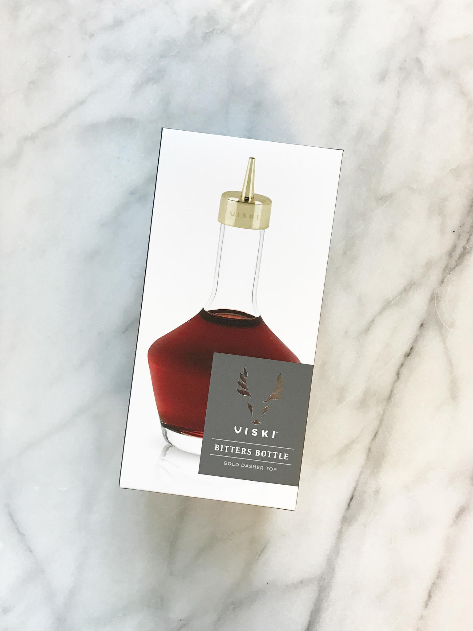 Viski Bitters Bottle with Gold Dasher Top-1