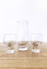 True Brands Viski 3pc Footed Crystal Sake Set