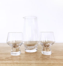 True Brands Viski 3pc Footed Crystal Sake Set