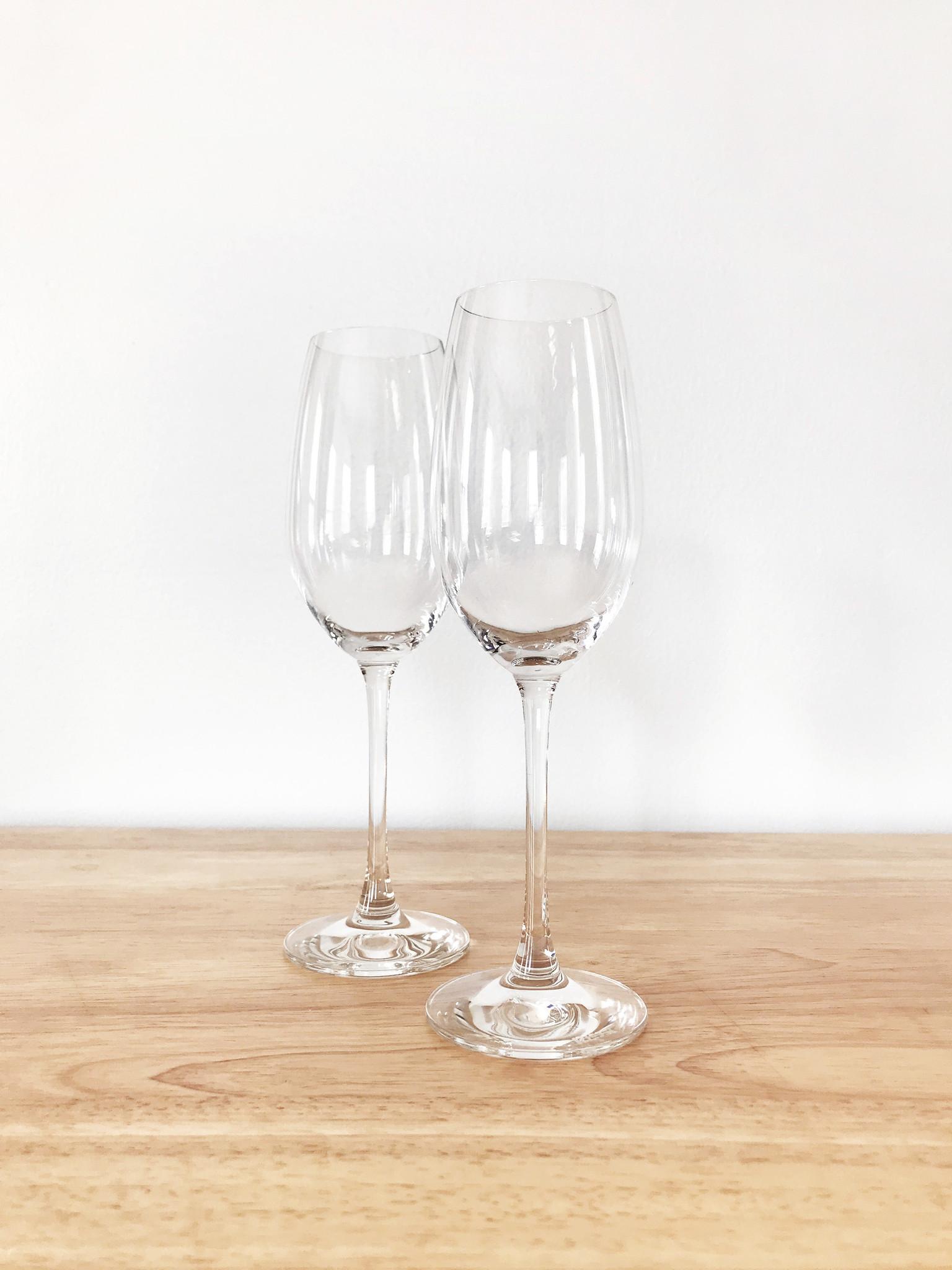 Riedel Stem Champagne Glasses, Set of 2-1