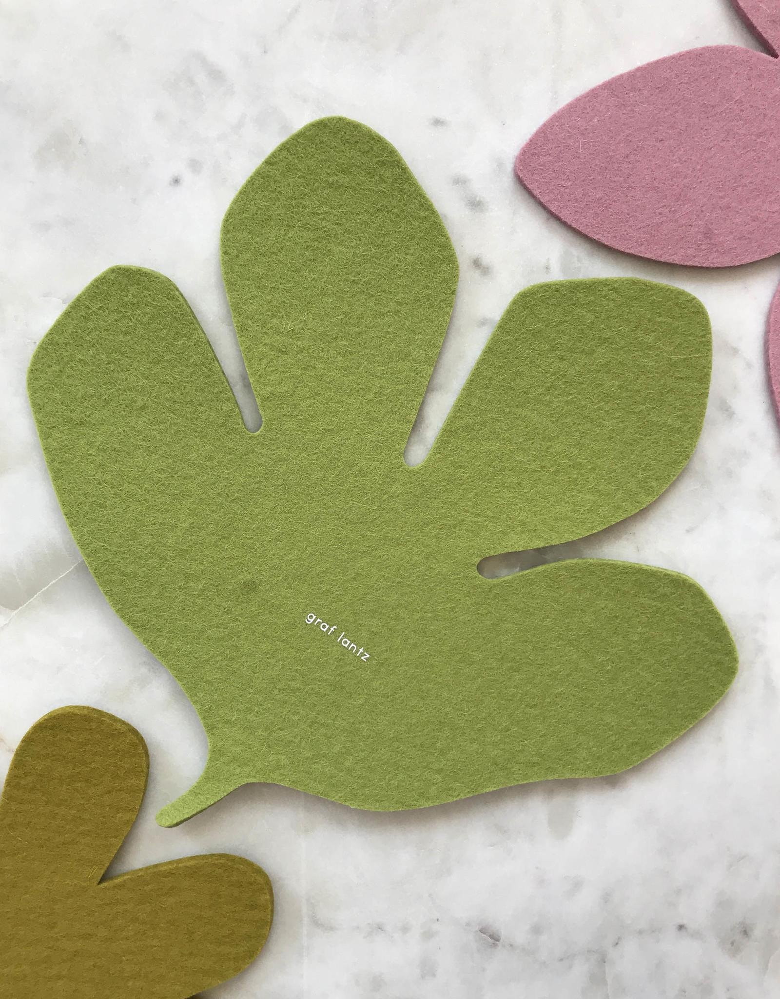 Graf & Lantz Graf & Lantz Felted Botanical Fig Leaf Trivet