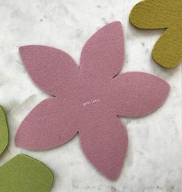 Graf & Lantz Graf & Lantz Felted Botanical Plumeria Trivet in Pink