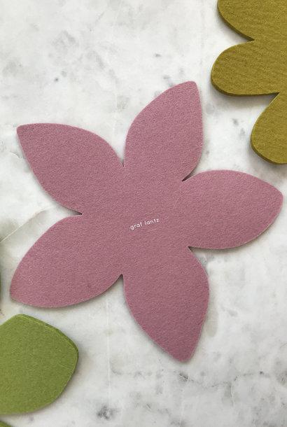 Graf & Lantz Felted Botanical Plumeria Trivet in Pink