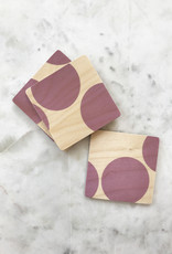Wolfum Wolfum SilkScreened Wood Coasters