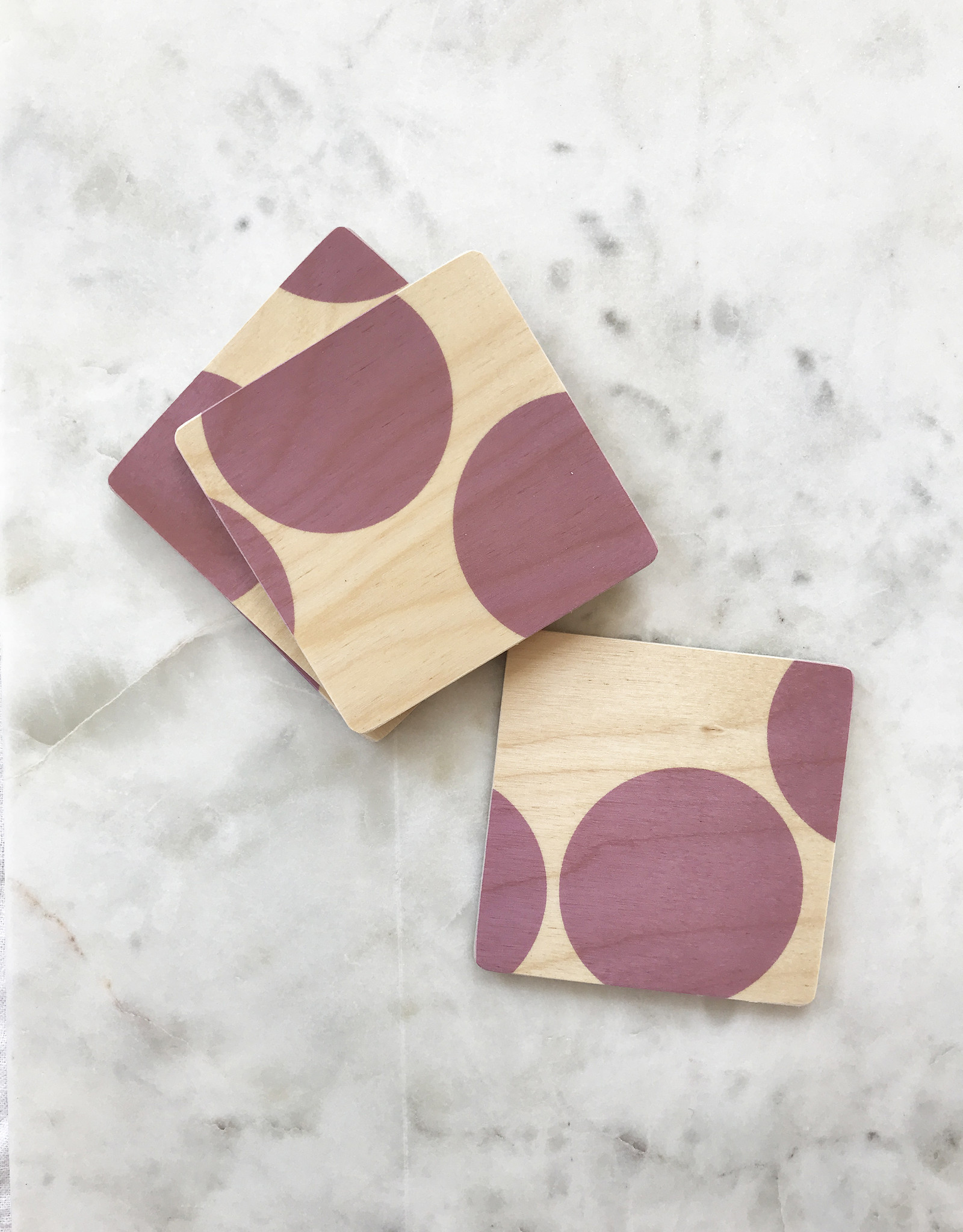 Wolfum Wolfum SilkScreened Wood Coasters