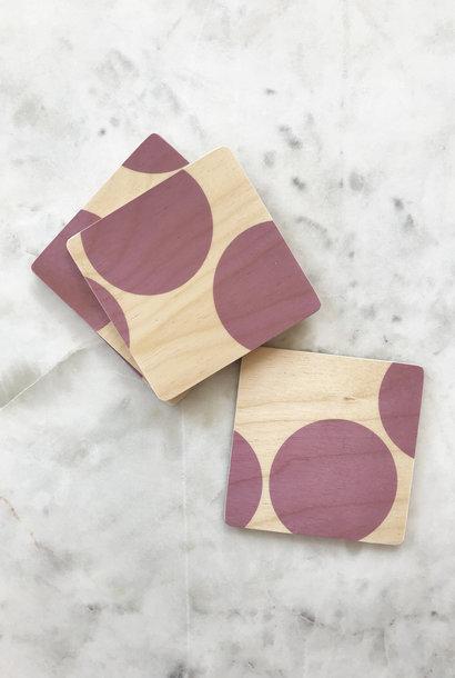 Wolfum Wood Coasters