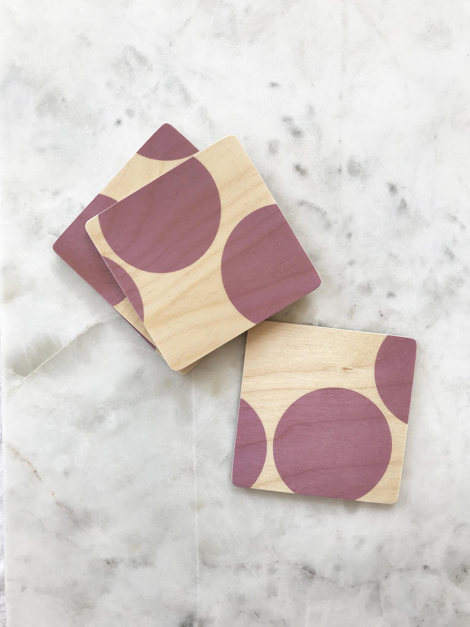 Wolfum SilkScreened Wood Coasters-1