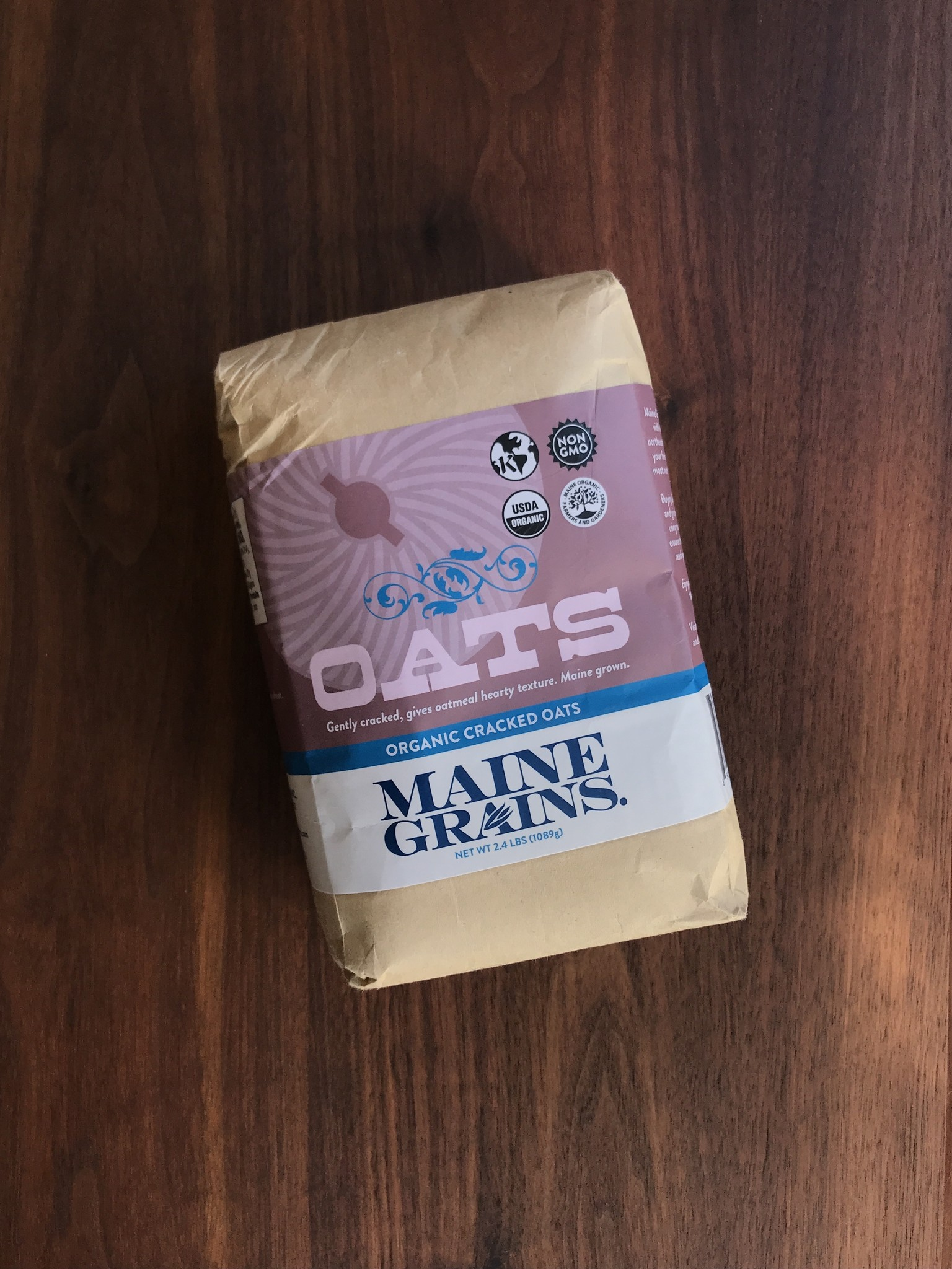Maine Grains Cracked Oats, 2.4 lbs.-1