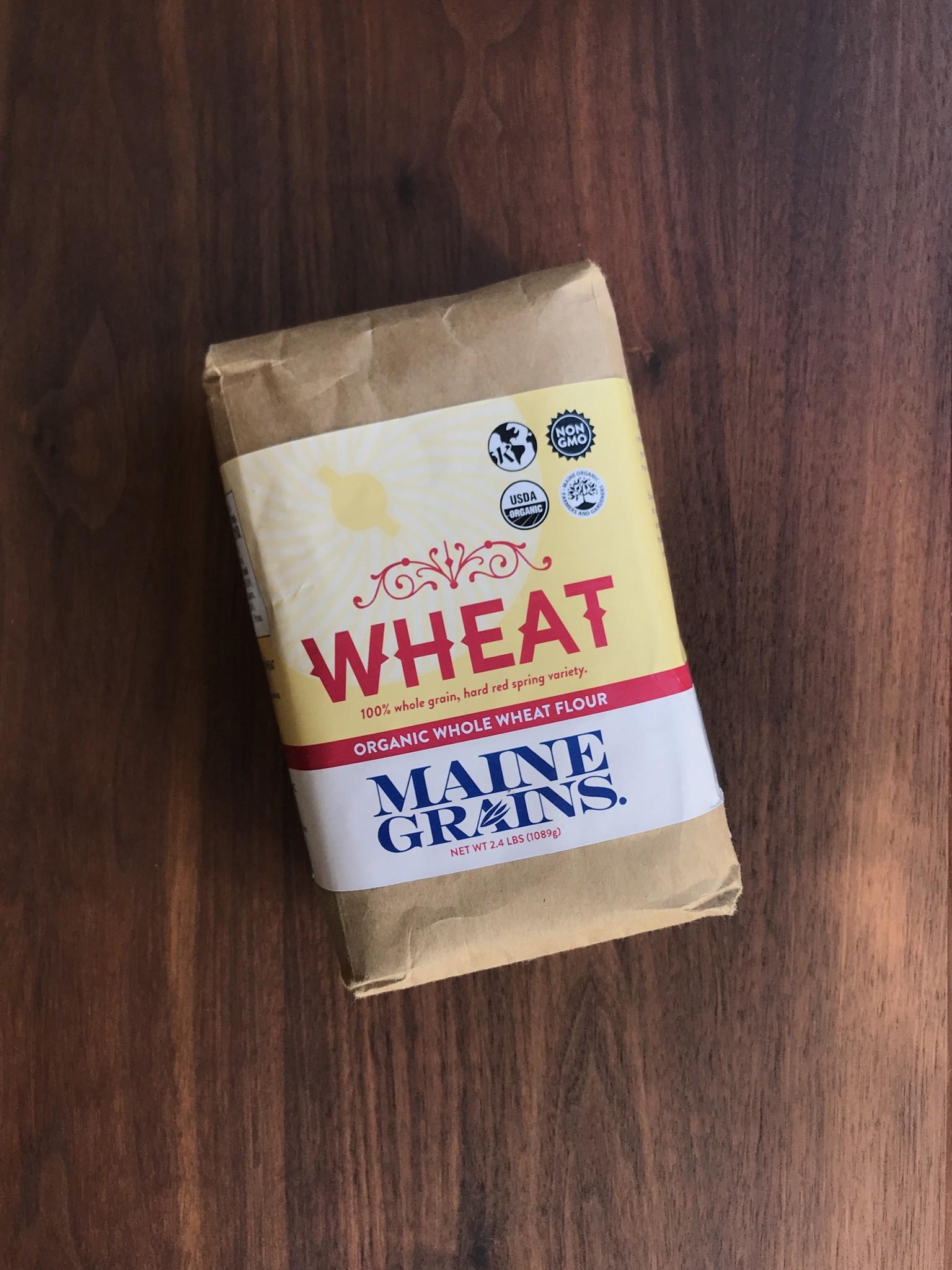 Maine Grains Organic Whole Wheat Flour, 2.4 lbs.-1