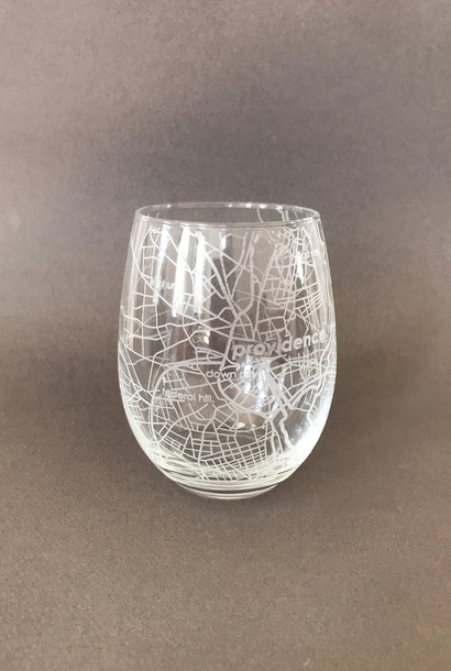 Well Told Hometown Providence Stemless Wine Glass