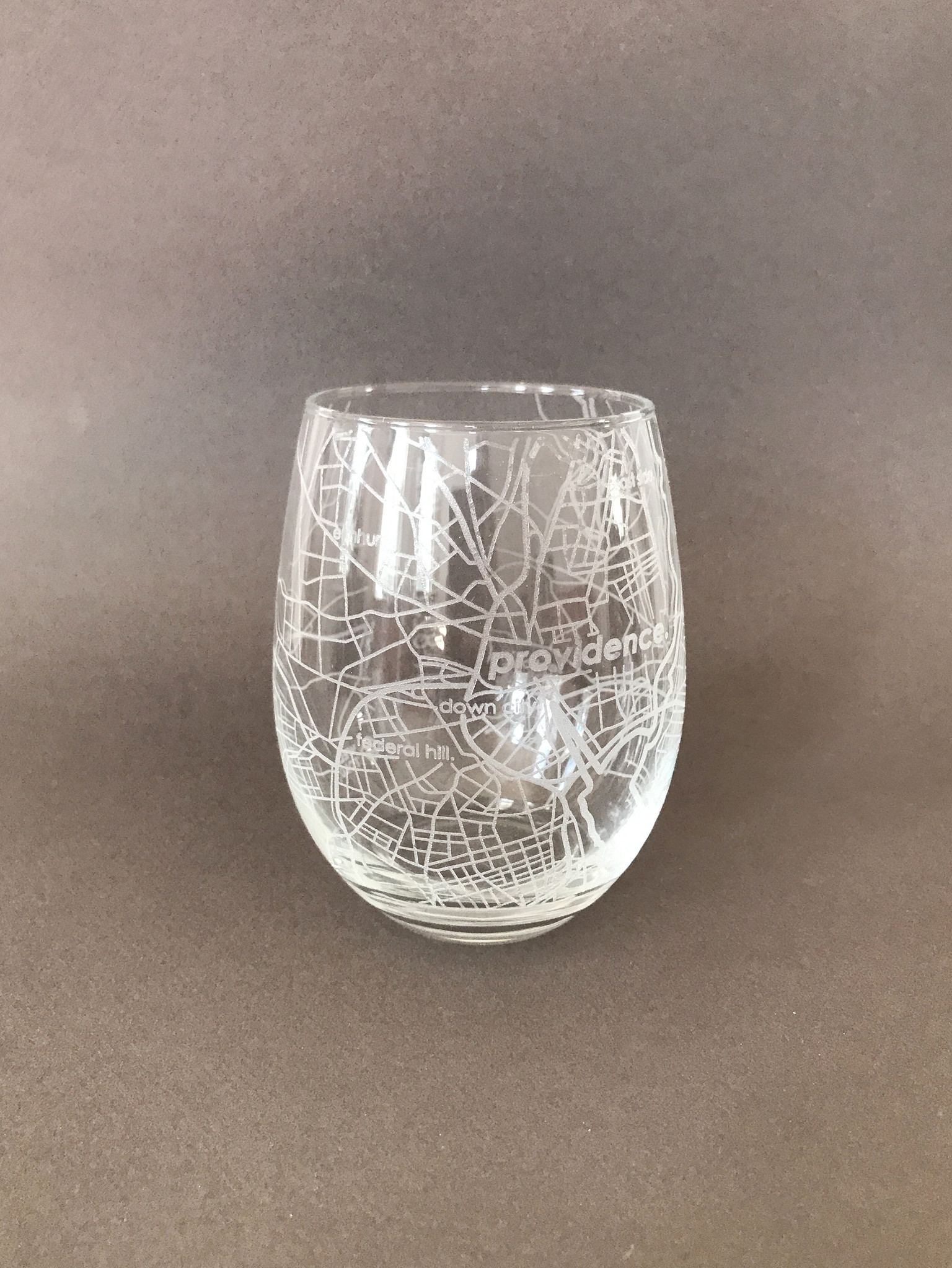 Well Told Hometown Providence Stemless Wine Glass-1