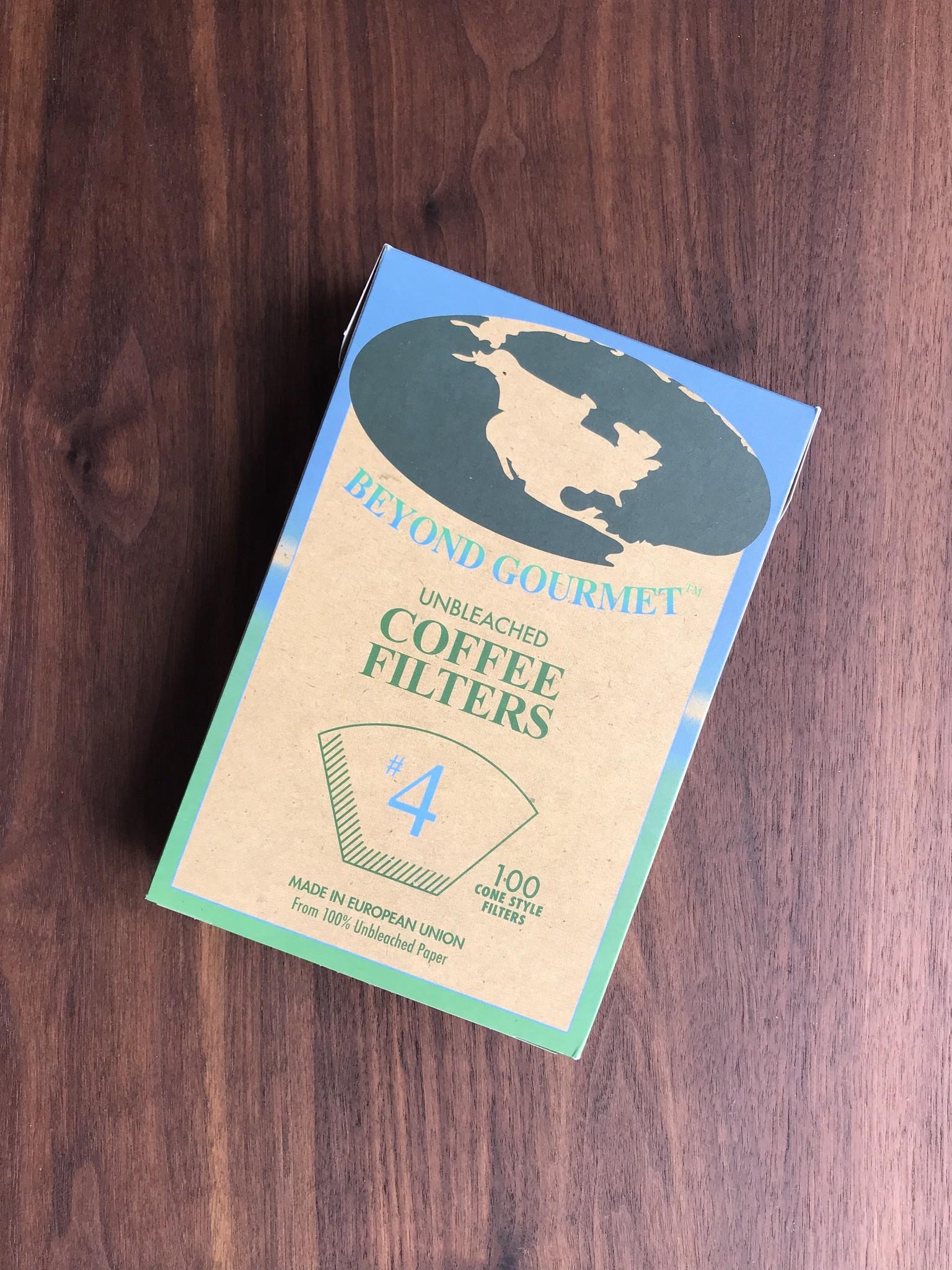 Beyond Gourmet Unbleached Filters #4 100pk-1