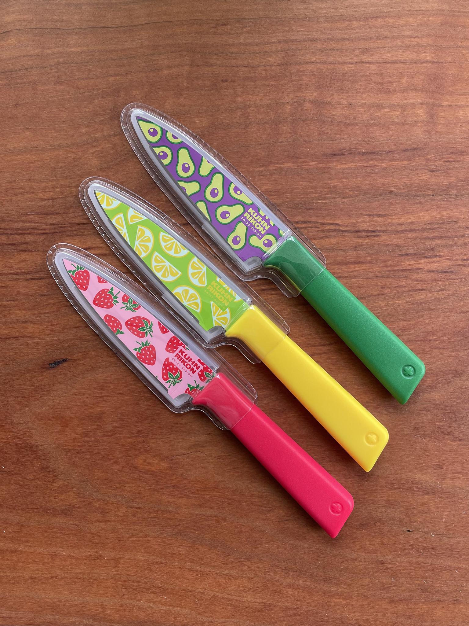 Kuhn Rikon Colori Fruit Paring Knives-1