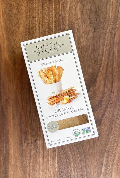 Rustic Bakery Olive Oil & Salt Sourdough Flatbread Crackers