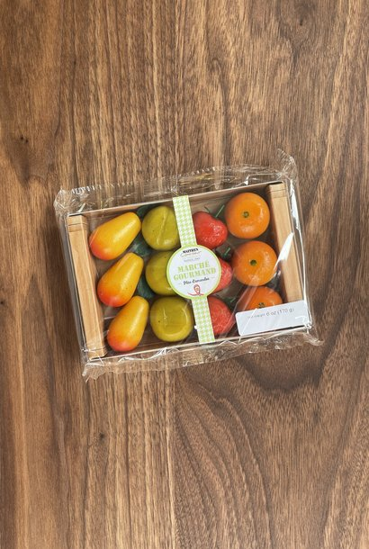 Maffren Assorted Fruit Marzipan, Crate of 12