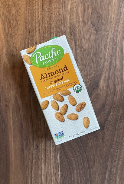 Pacific Unsweetened Almond Milk, 32 oz.