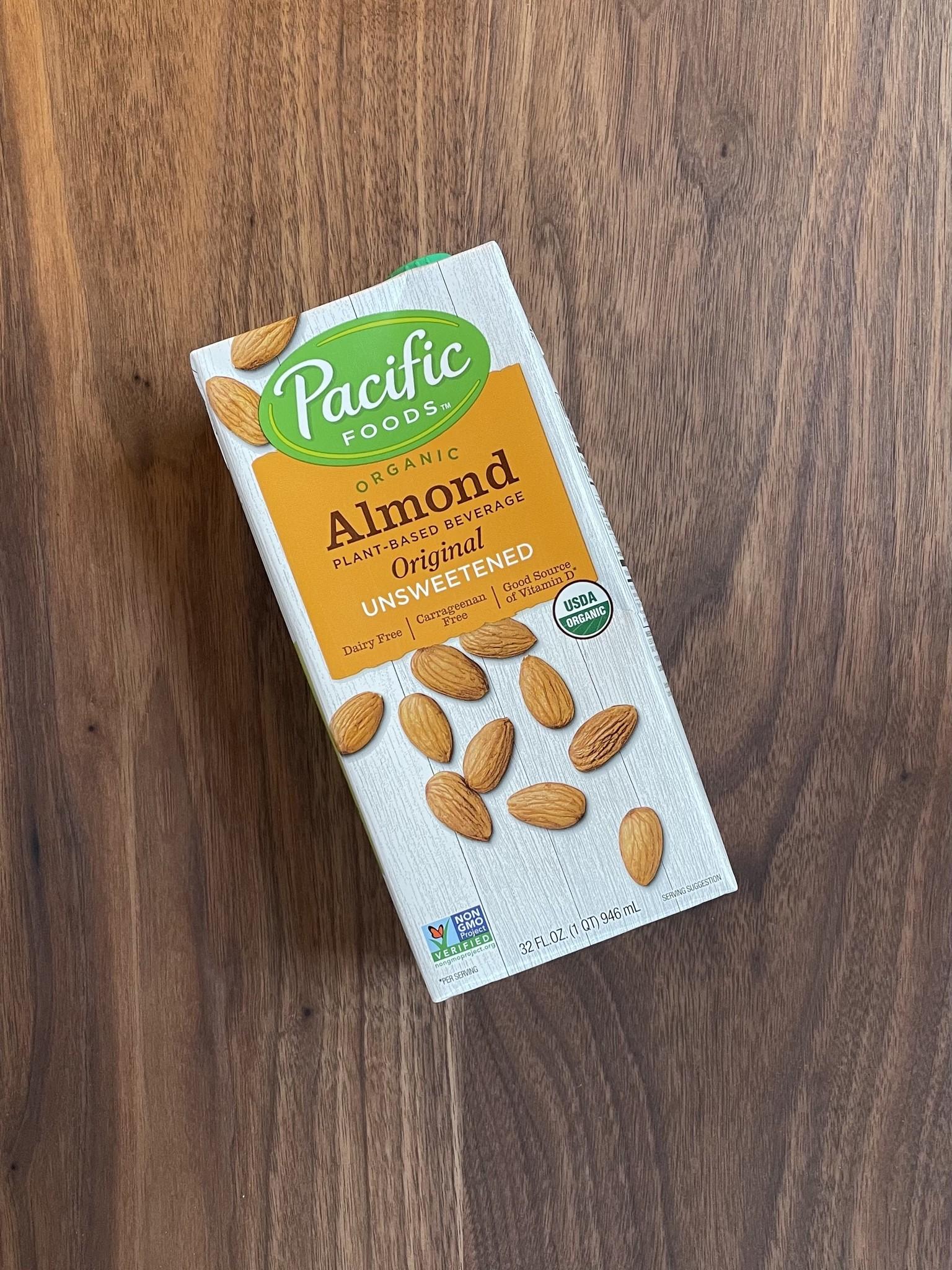 Pacific Unsweetened Almond Milk, 32 oz.-1
