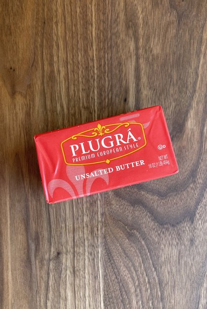 Plugra Cultured Unsalted Butter, 16 oz.