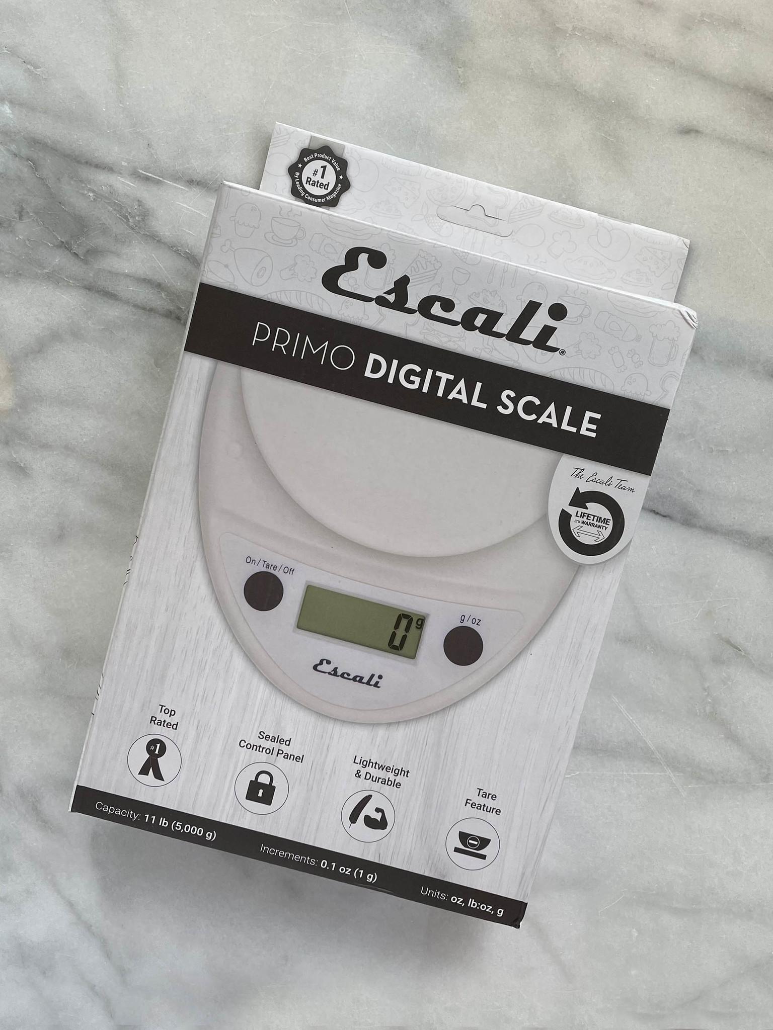 Escali Primo White  11 lb. Digital Scale-1