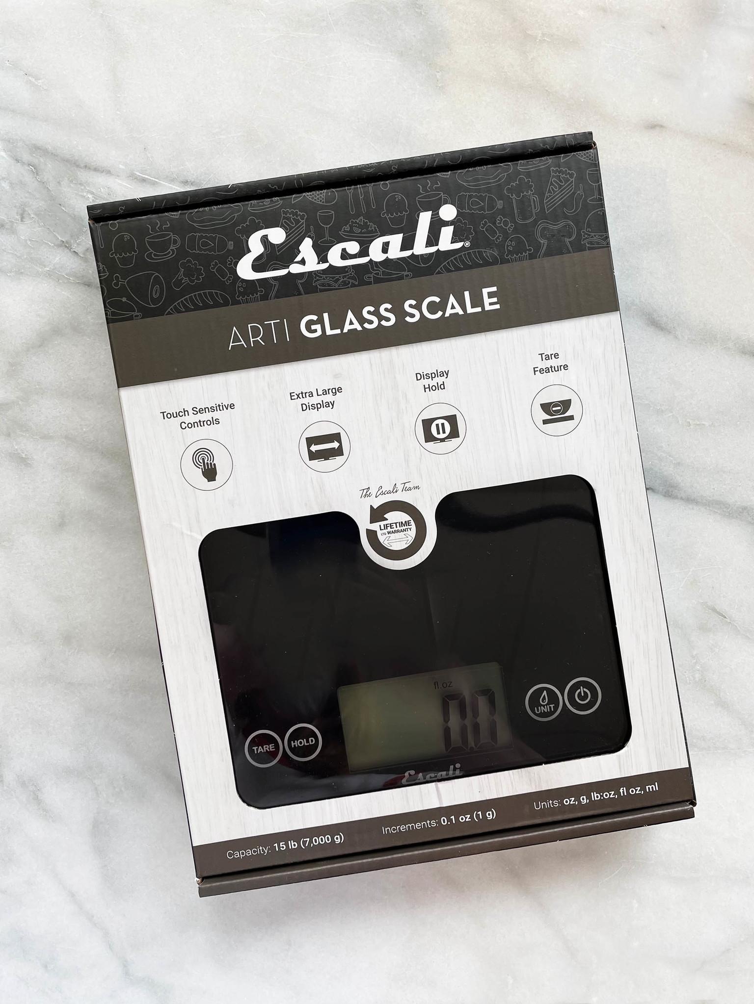Escali Arti Black 15 lb. Digital Scale-1