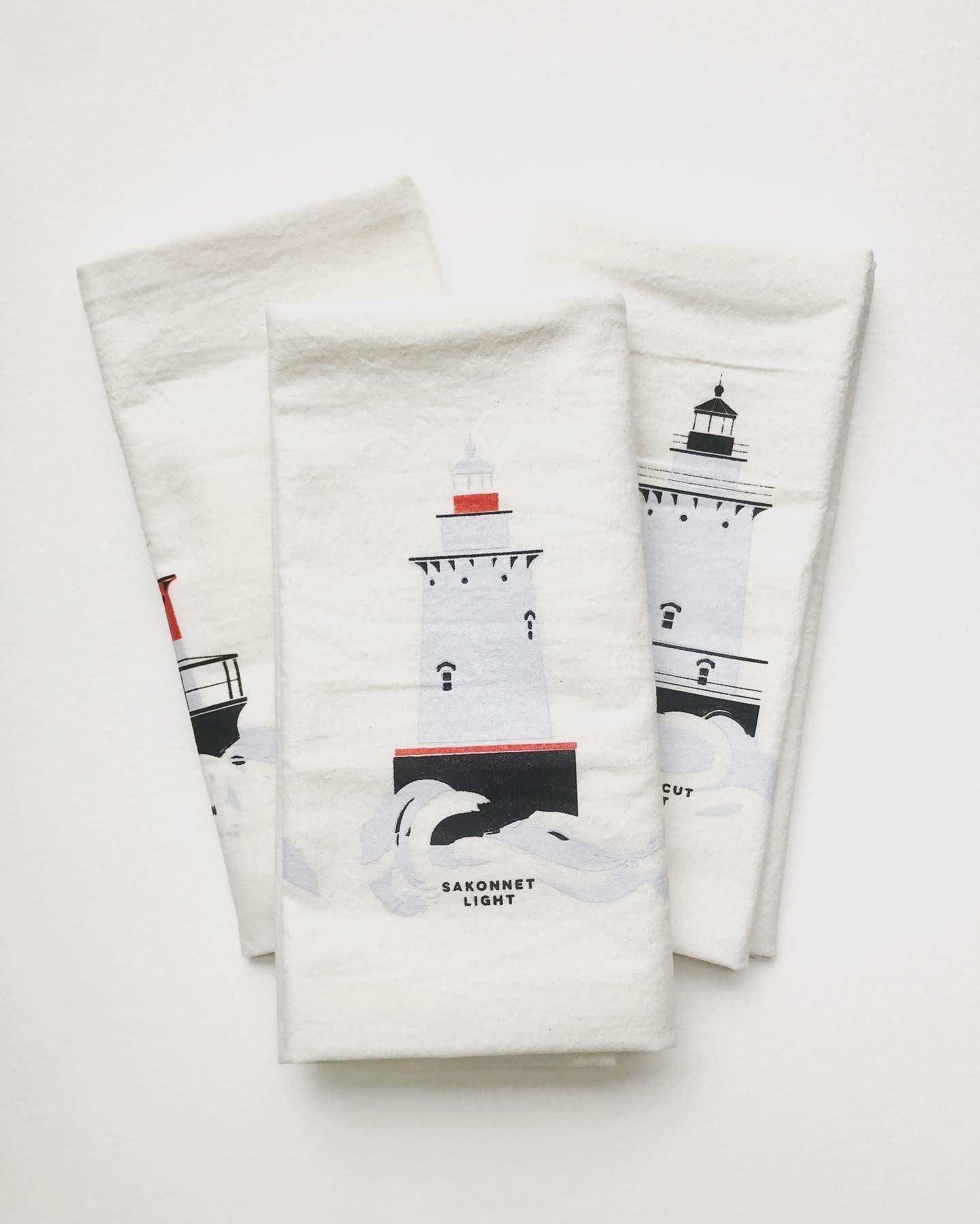 Cricicis Design Rhode Island Lighthouse Tea Towel-1