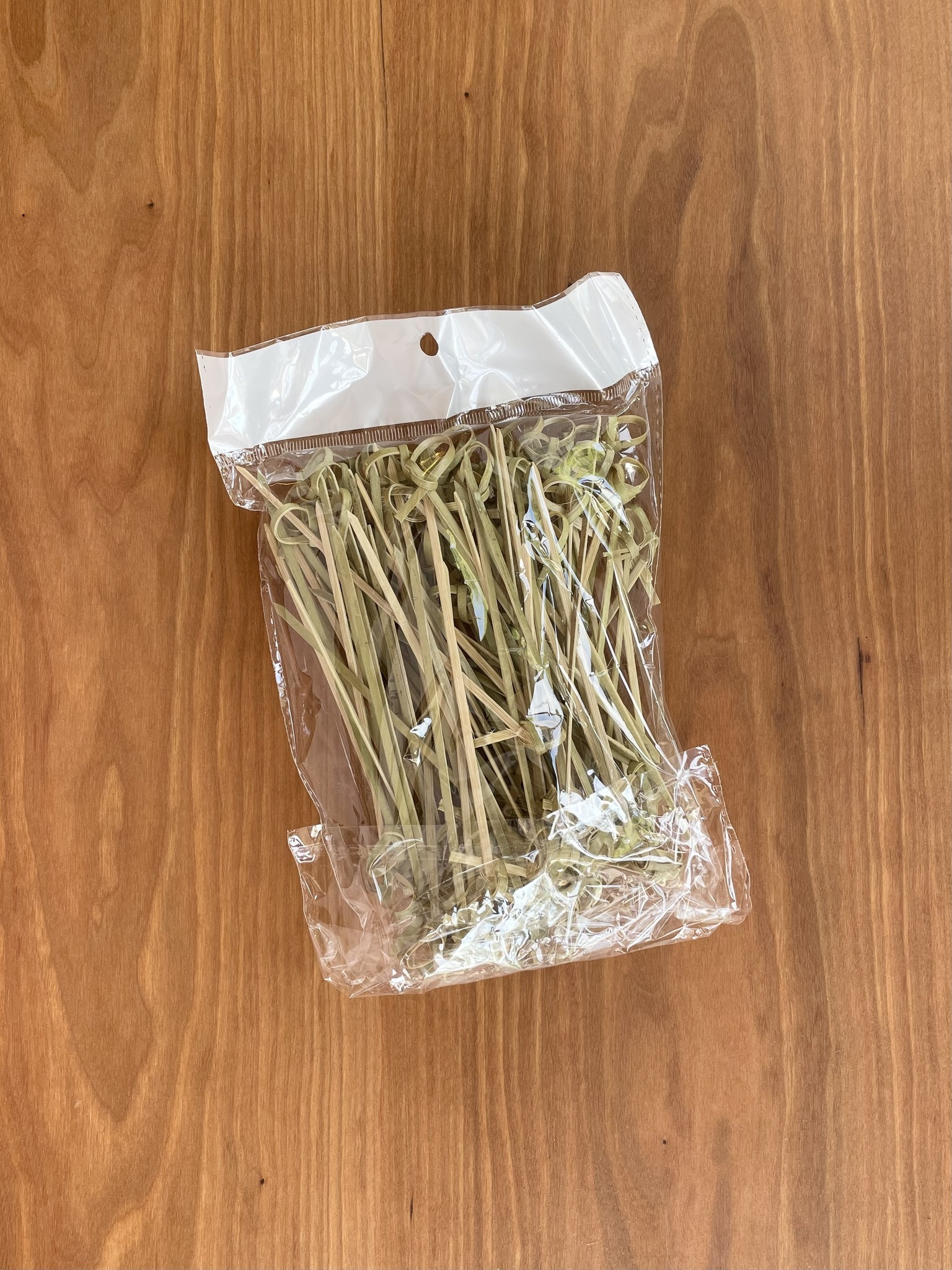 Bamboo Knotted Skewers, 100 Pieces-2