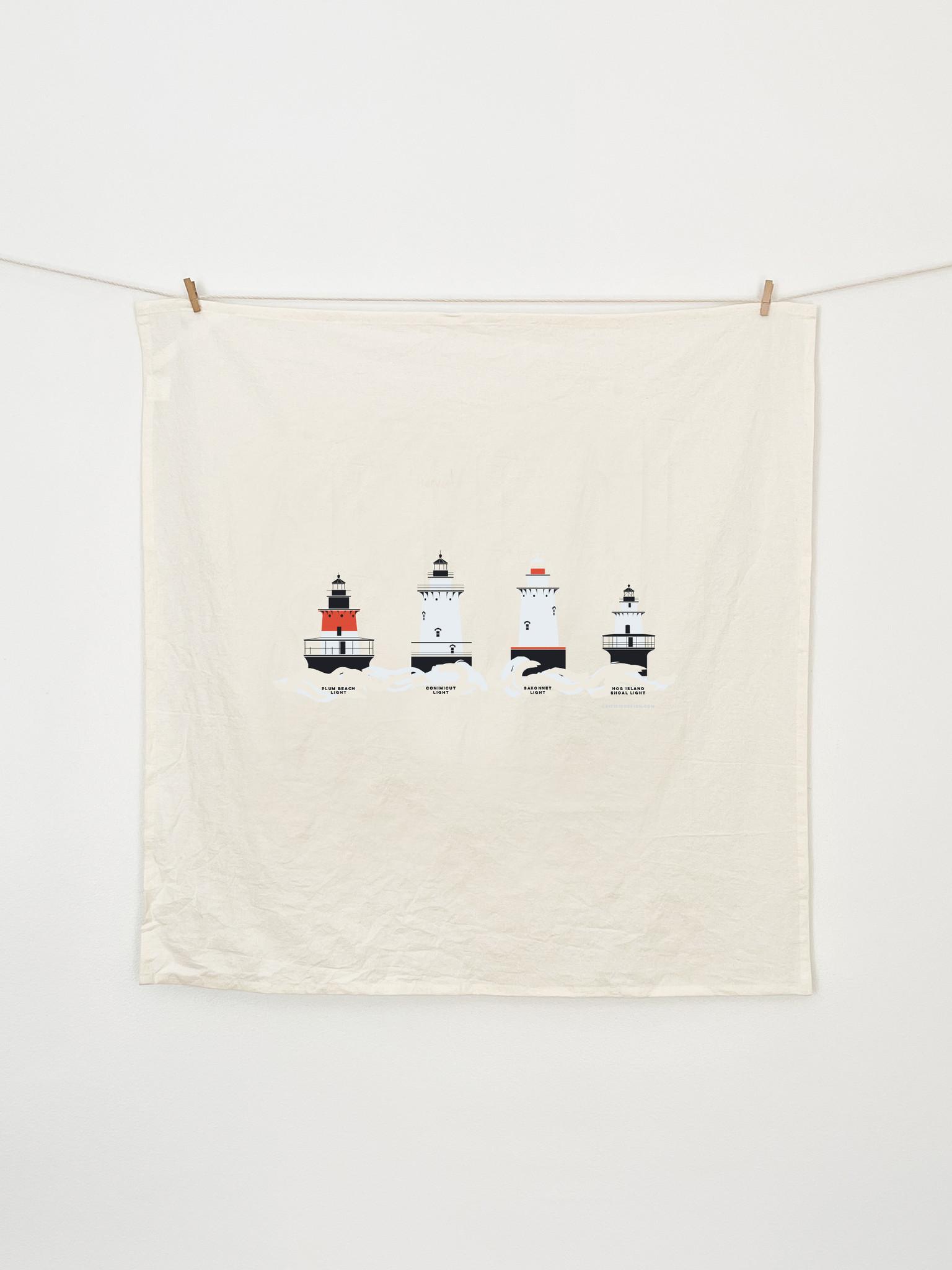 Cricicis Design Rhode Island Lighthouse Tea Towel-2