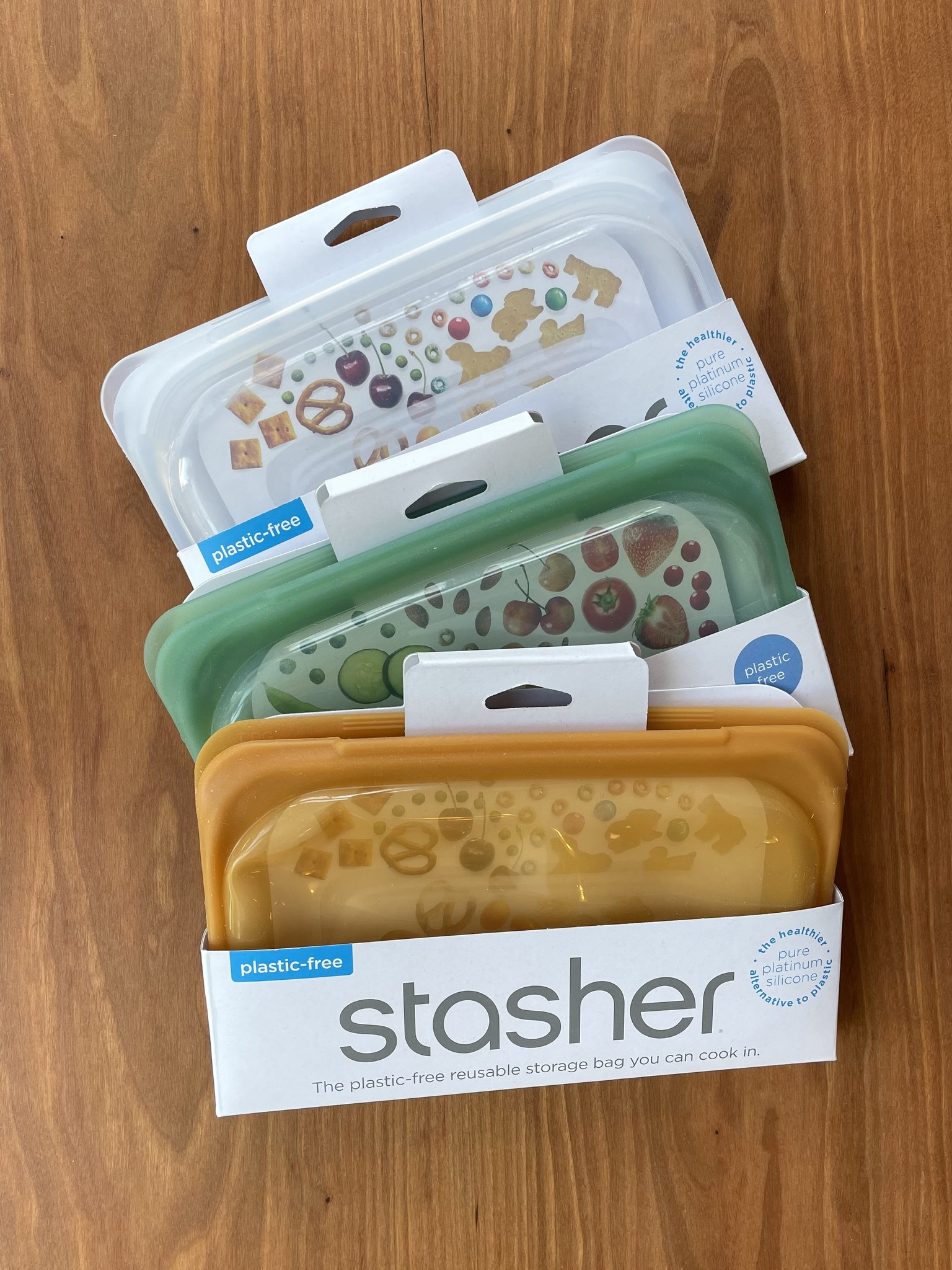 Stasher Silicone Snack Size Reusable Bags-1