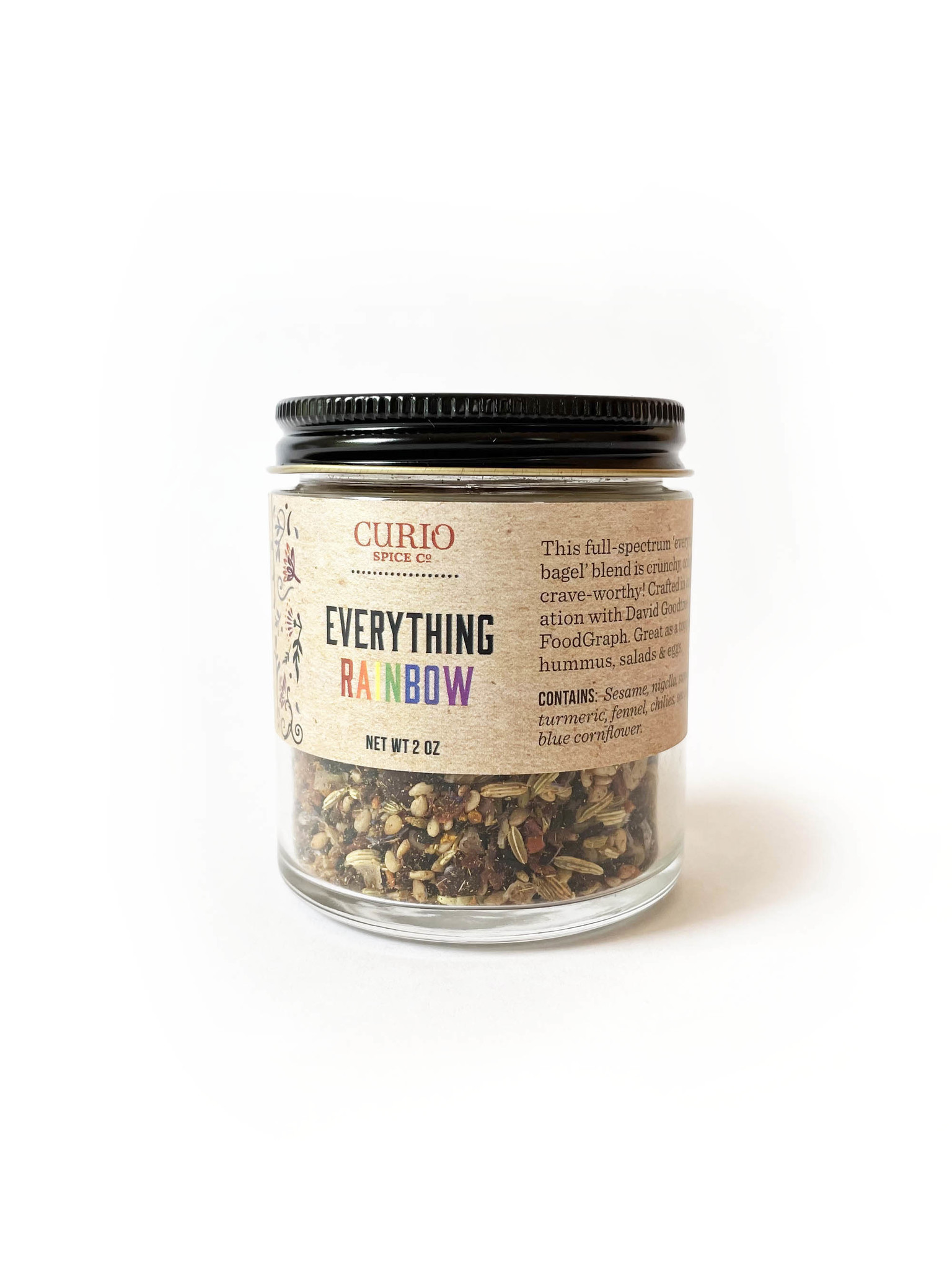Curio Spice Co. Everything Rainbow Spice Mix, 2 oz.-1