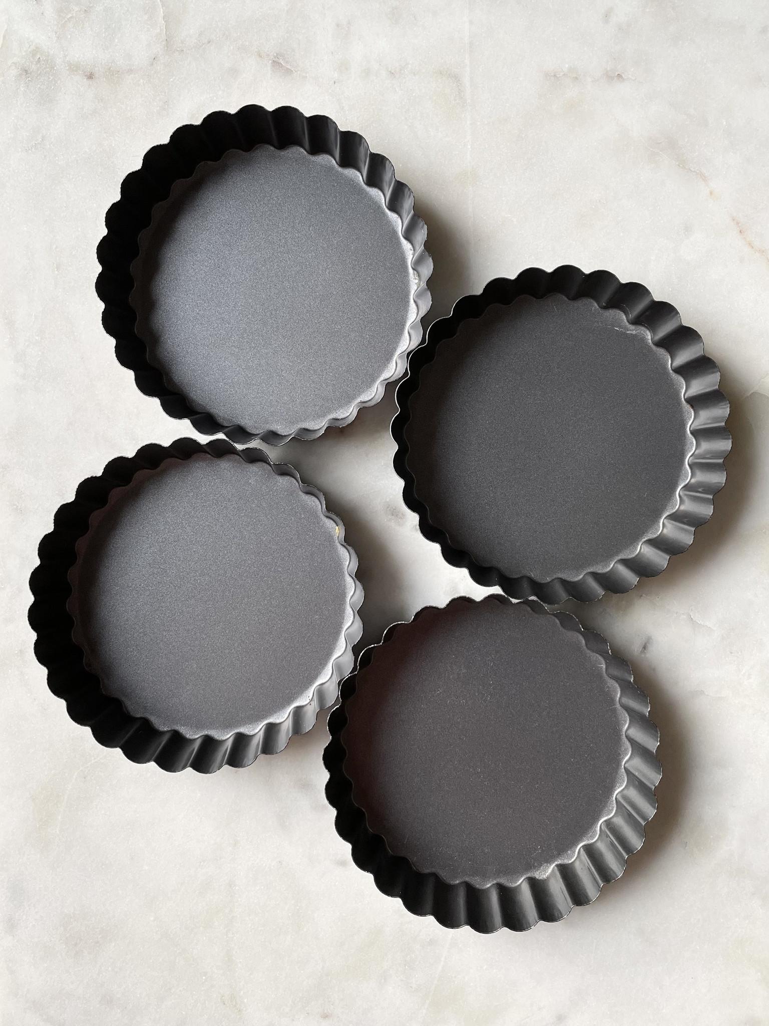 Mrs. Anderson's Nonstick Mini Quiche Pans, Set of 4-1