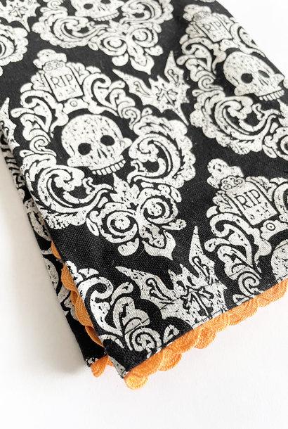 DII Embellished Graveyard Damask Kitchen Towel