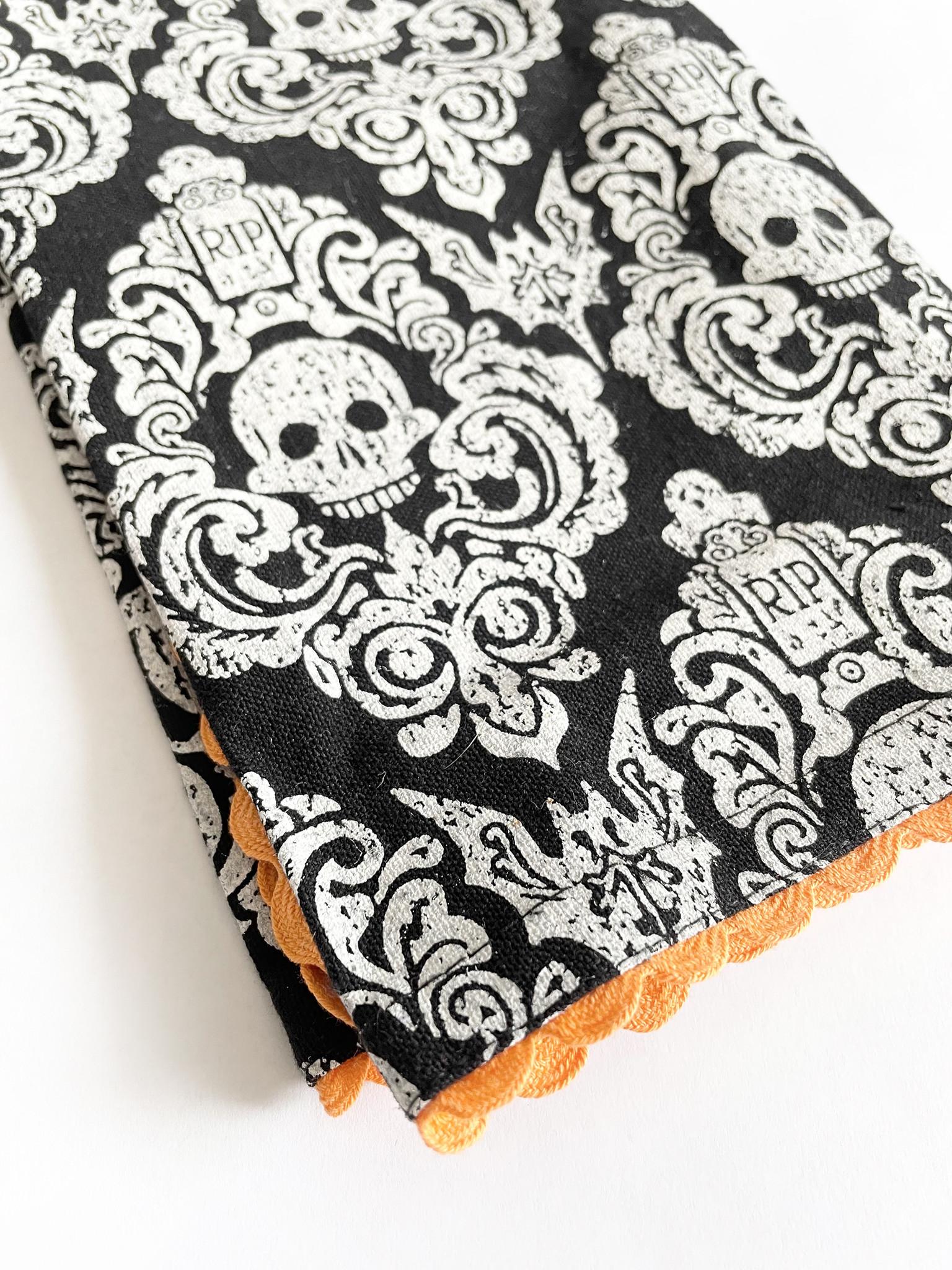 DII Embellished Graveyard Damask Kitchen Towel-1