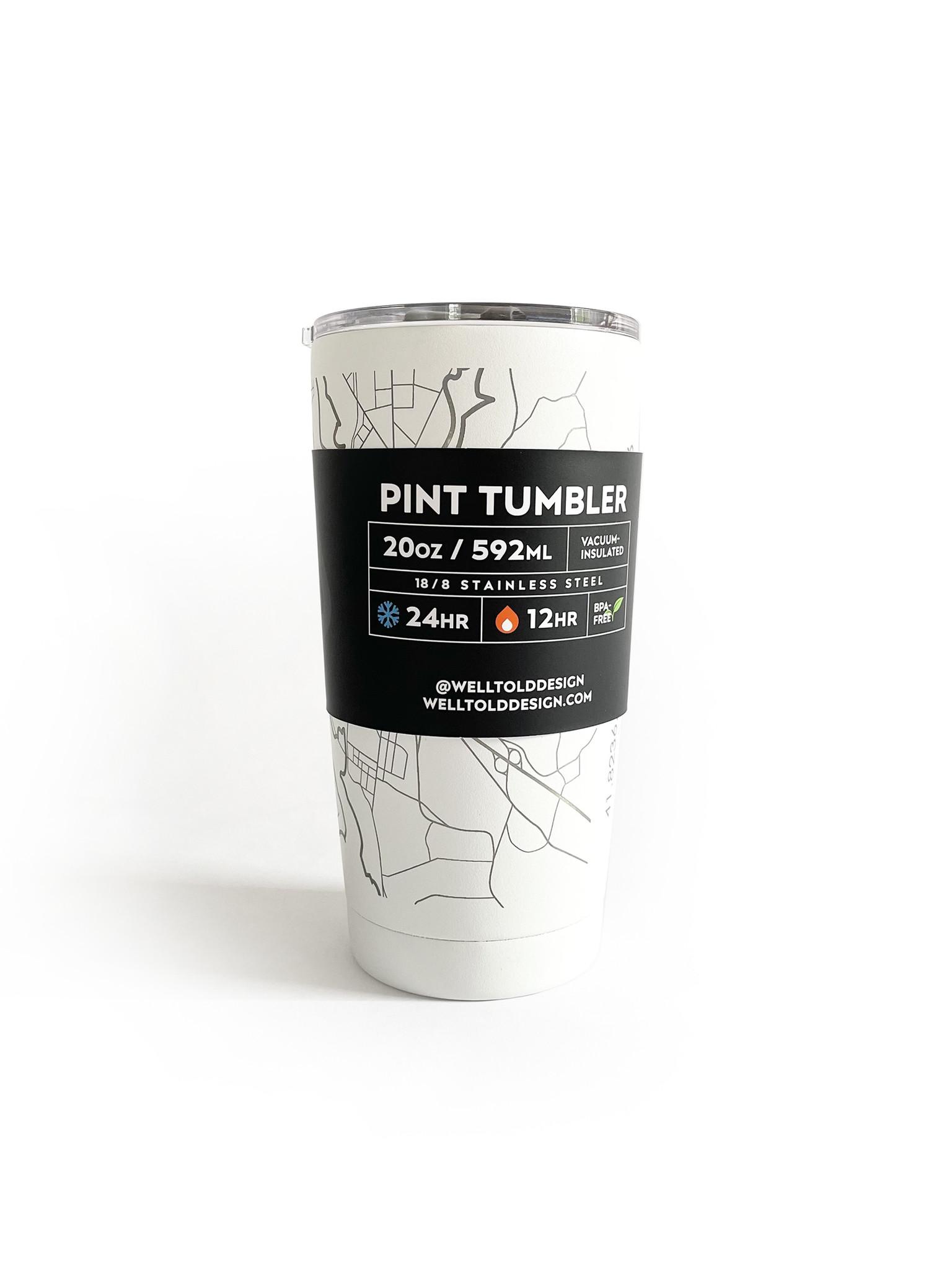Hometown Providence White Insulated Pint Travel Mug 20 oz-1
