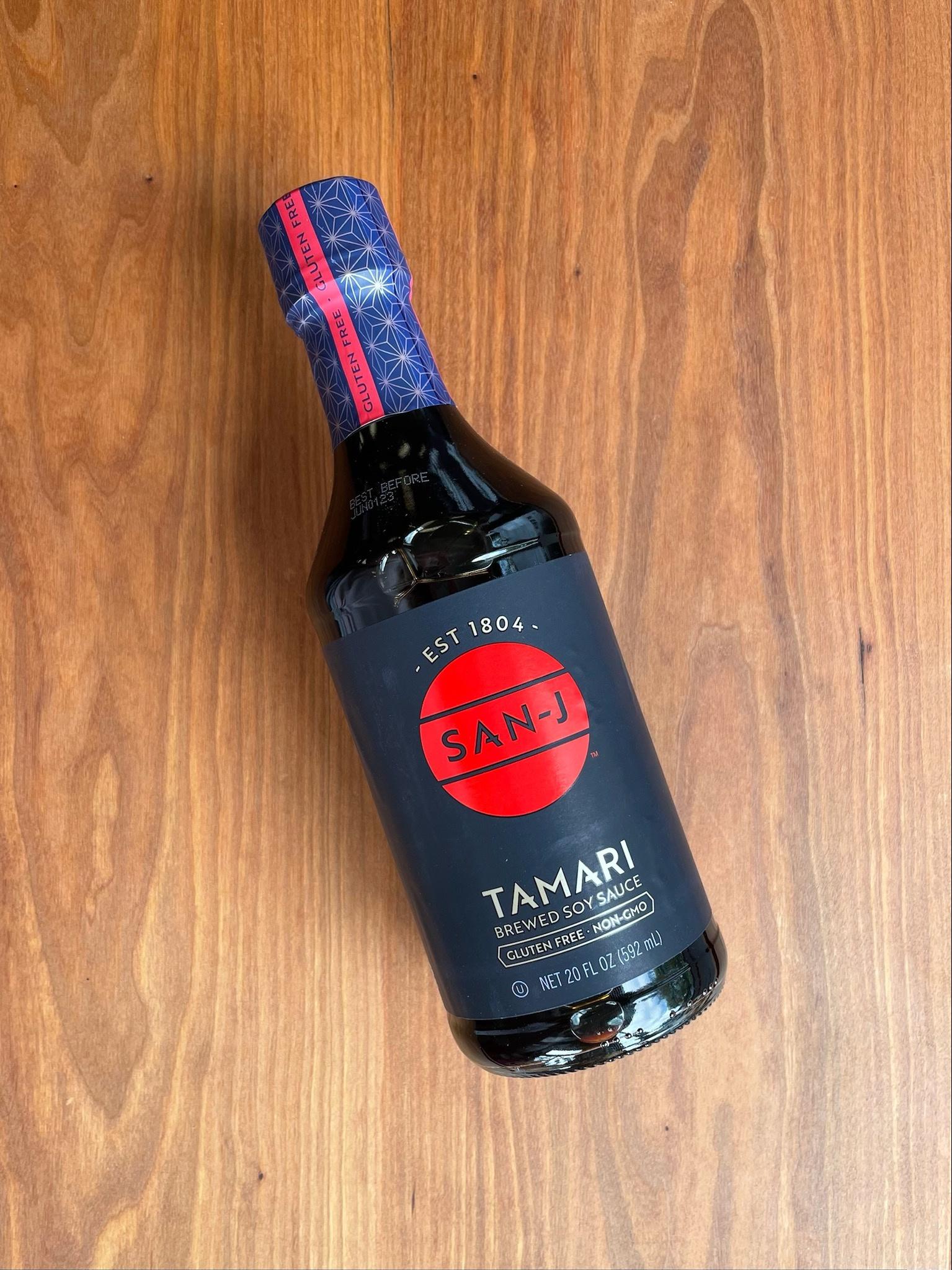 San J Tamari Soy Sauce 20 oz-1