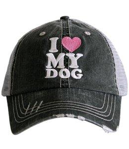 KATYDID I LOVE MY DOG TRUCKER MESH