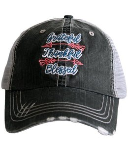 KATYDID GRATEFUL THANKFUL BLESSED TRUCKER HAT