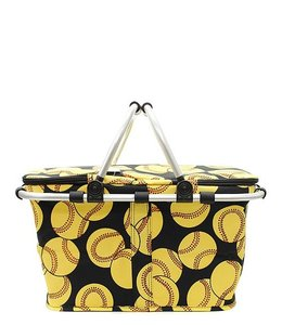NGIL INSULATED MARKET TOTE SOFTBALL PRINT