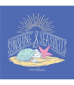 Anna Grace Tees T-SHIRT SUNSHINE & SEASHELLS COMFORT COLORS