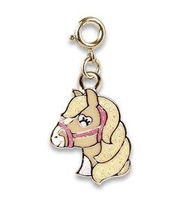 Charm It Gold Glitter Horse Charm CICC1366