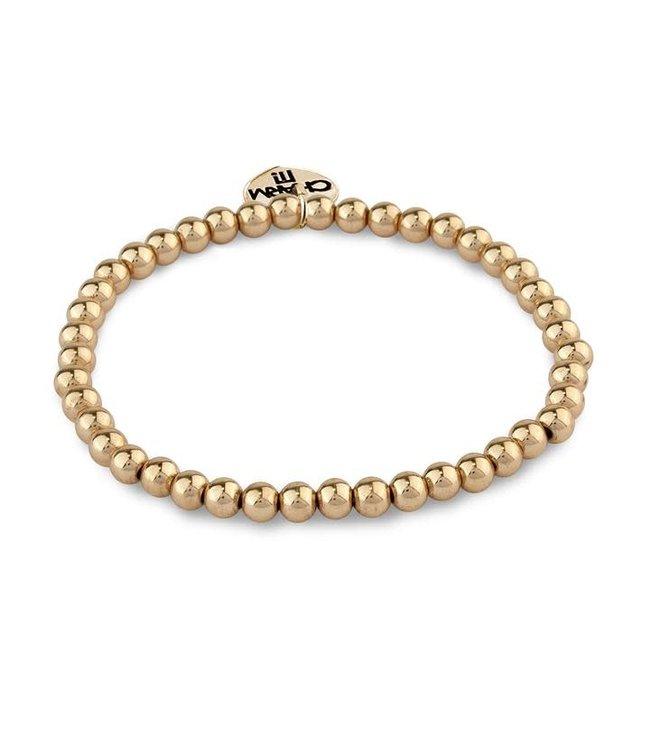 Charm It CHARM IT 4mm Gold Bead Stretch Bracelet CIBB103-4