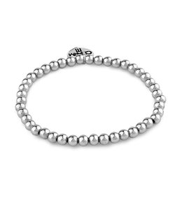 Charm It CHARM IT 4mm Silver Bead Stretch Bracelet CIBB101-4