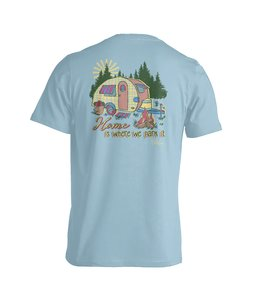 "CHLOE LANE ""PARK IT CAMPER"" T-SHIRT"